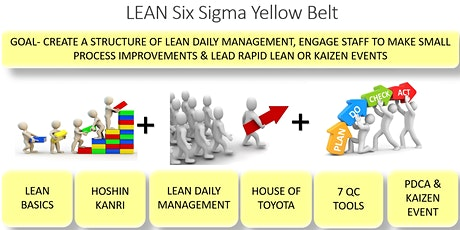 """29th LEAN SIX SIGMA YELLOW BELT CERTIFICATION, PMI LAKESHORE ONTARIO CHAPTER,  """"VIRTUAL ONLINE- FACE TO FACE"""", 2 SATURDAYS, JUNE 6 & 13, 2020 tickets"""