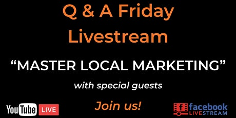 Q&A Friday - Master Local Marketing with Marc Palud, Founder of RevGenApps tickets