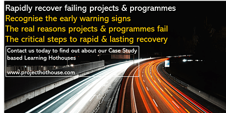 Learning Hothouse: How to recover projects - fast! tickets