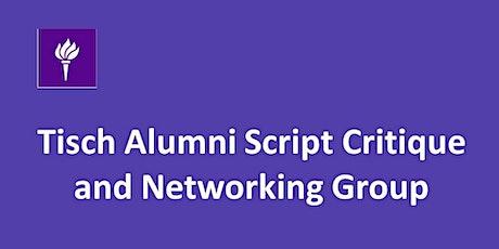July 2020 Tisch Alumni Peer Script Feedback Exchange Program tickets