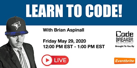 LIVE! Learn to Code With Brian Aspinall tickets