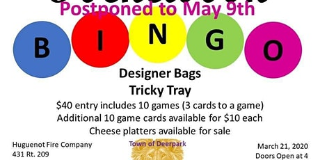 Pocketbook Bingo - Town of Deerpark Lions Club tickets