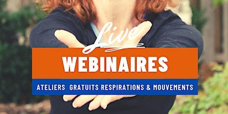 Live Webinaire Ateliers Gratuits Respirations & Mouvements billets