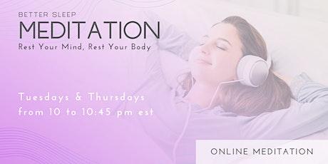 Better Sleep - Free Guided Meditation tickets
