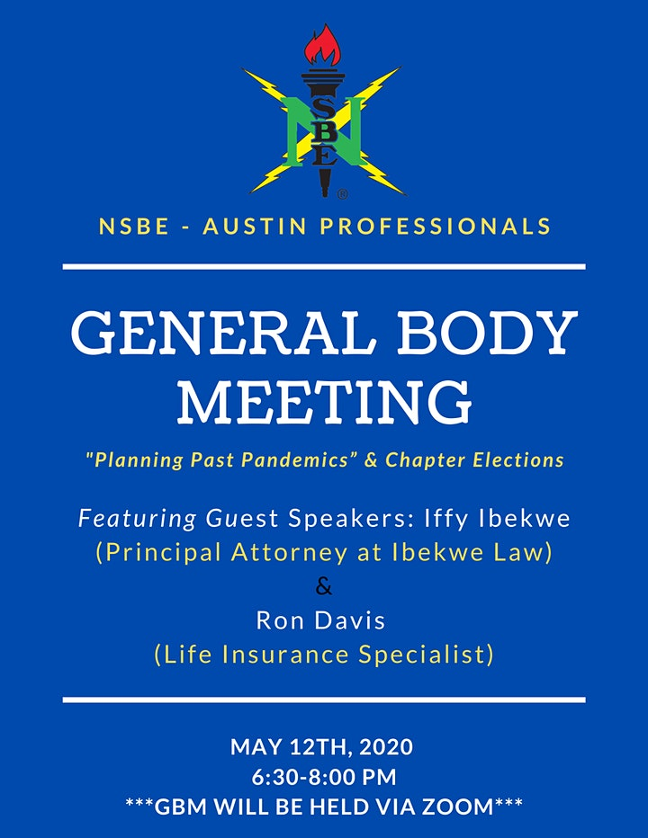 NSBE - Austin Professionals General Body Meeting image