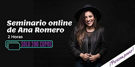 Seminario Online Ana Romero boletos