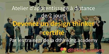 [atelier A DISTANCE] Devenez un design thinker certifié en 2 jours billets