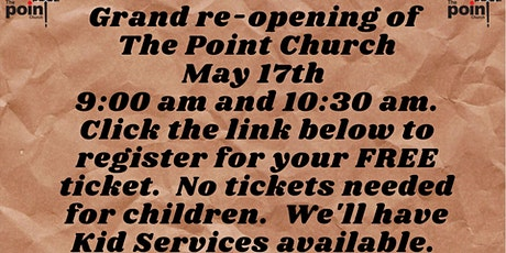 Grand Re-Opening Church Service. tickets