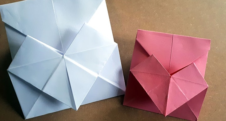 Online Craft Workshop - Origami Heart Envelope & Box Container image