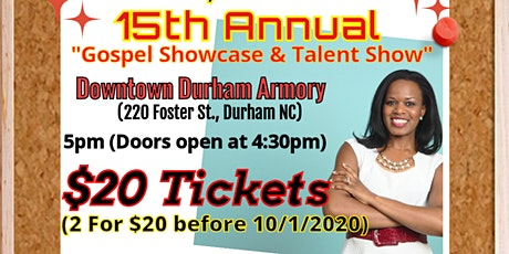 "Words of Essence's 15th Annual ""Gospel Showcase & Talent Show 2020"" tickets"