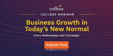 Business Growth in Today's New Normal tickets