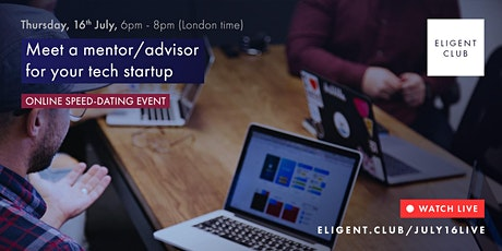 Online speed-dating event: meet a mentor/advisor or investor for a startup tickets