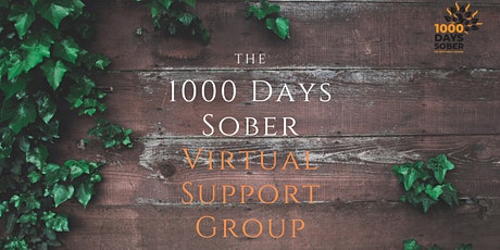 The 1000 Days Sober Virtual Support Group tickets
