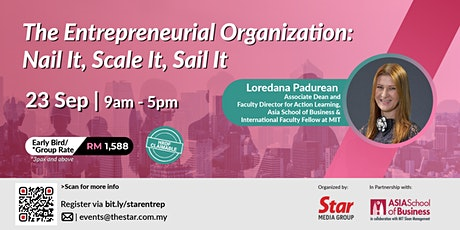 The Entrepreneurial Organization: Nail It, Scale It, Sail It tickets
