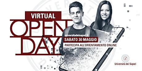 VIRTUAL OPEN DAY Università dei Sapori, 30 MAGGIO 2020 - sessione primaverile biglietti