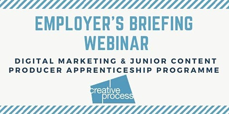 Creative Process Digital: Digital Apprenticeships Employer's Briefing Webinar. tickets