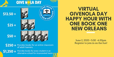 Virtual GiveNOLA Happy Hour with One Book One New Orlens tickets
