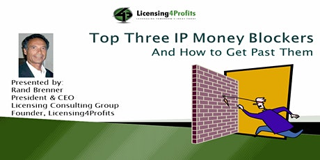 IP Licensing Money Blockers and How to Get Past Them tickets