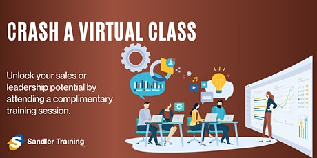"""Crash A Virtual Class"" with Sandler Training Burlington tickets"