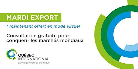 Consultation gratuite - Mardi EXPORT billets