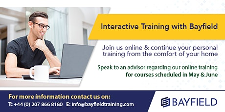 Online Training with Bayfield -May & June tickets