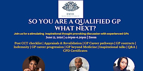 SO YOU ARE NOW A QUALIFIED GP. WHAT NEXT ? tickets