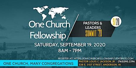 One Church Fellowship Pastors' & Leaders' Summit '20 tickets