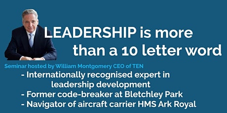 Leadership is more than a 10 letter word tickets