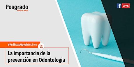Conferencia en línea: La importancia de la prevención en Odontología boletos