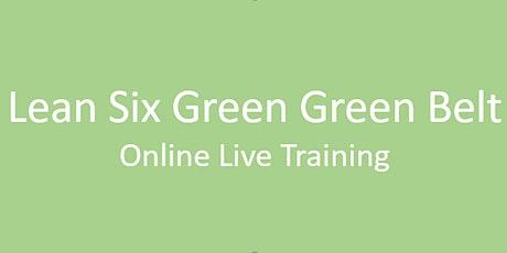 Online Lean Six Sigma Green Belt Certification Training in Cincinnati tickets