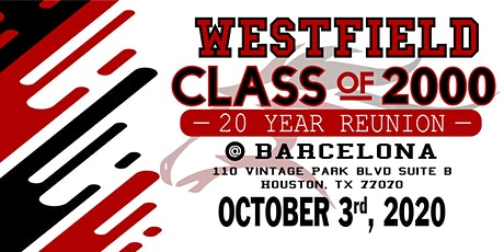 Westfield High School, Class of 2000 - 20 Year Reunion!! tickets
