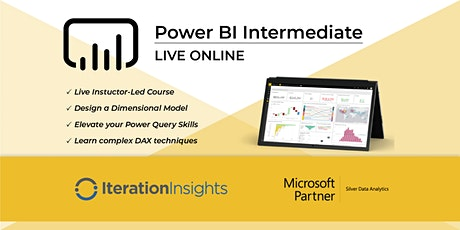 HANDS DOWN THE BEST Power BI Intermediate Power Query, Data Modeling and DAX - Regina Virtual 2 Day tickets