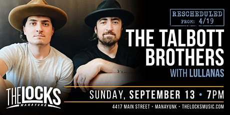 The Talbott Brothers with special guest Lullanas tickets