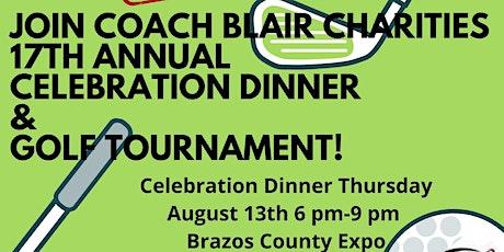 Coach Blair Charities Celebration Dinner and Golf Tournament tickets