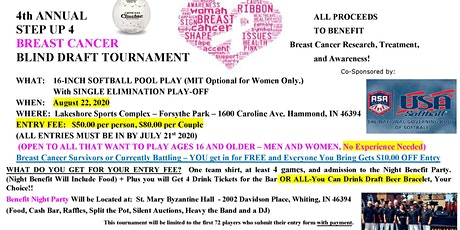 "Step Up 4 Breast Cancer Co-Ed 16"" Softball Tournament tickets"