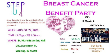 Step Up 4 Breast Cancer - BENEFIT PARTY tickets