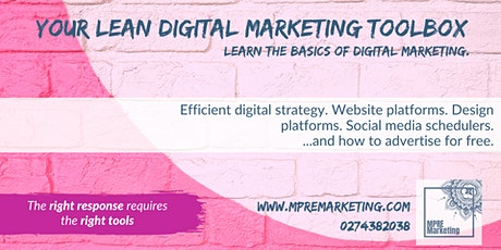 Your Lean Digital Marketing Toolbox tickets