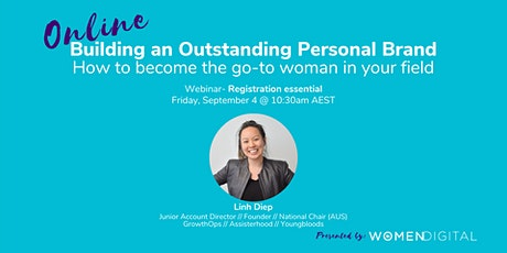 Building an Outstanding Personal Brand  with Linh Diep ingressos