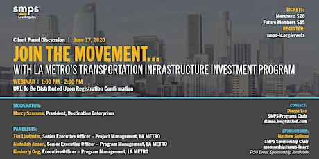 LA Metro's Transportation Infrastructure Investment Program (Webinar) tickets