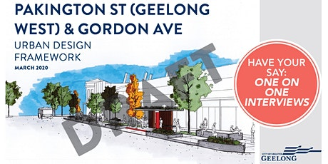 Draft Pakington St and Gordon Ave UDF - One on One Interview Sessions tickets