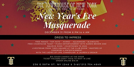 New Year's Eve Masquerade tickets