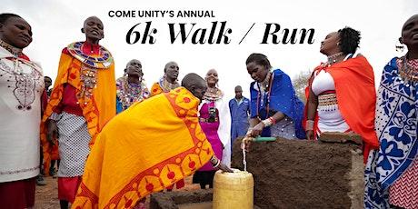 COME UNITY - 6k walk/run tickets