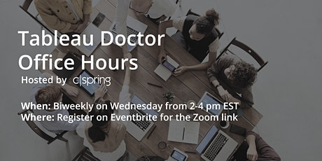 Tableau Doctor Office Hours tickets