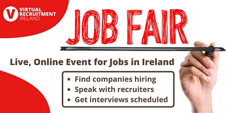 Virtual Recruitment Ireland - Online Jobs Fair (Sat, 21st Nov, 2020) tickets