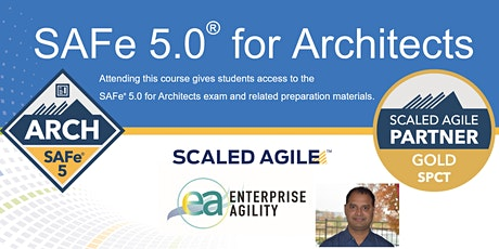 Virtual Interactive - SAFe for Architects with SAFe® ARCH 5.0 Certification Tickets