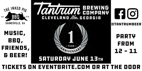 Tantrum's ONE Year Anniversary Celebration - New Date! tickets