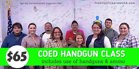 COED FUNDAMENTAL HANDGUN CLASS  - Includes Handguns & Ammo tickets