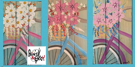 "Paint and Enjoy at Benigna's  Creek Vineyard ""Bicycle "" on wood tickets"