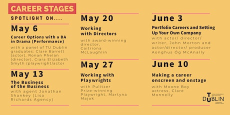 Career Stages Webinars with Irish & International artists of stage & screen tickets
