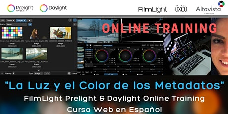 """""""La  luz y el color de los metadatos """" Prelight & Daylight Online Training entradas"""